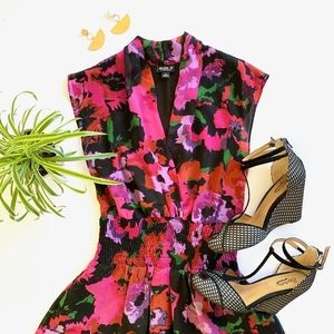 Allen B. By Allen Schwartz Floral Cap Sleeve Dress